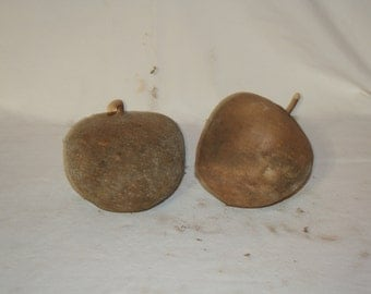 Two Apple Gourds, uncleaned set 2