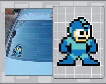 MEGA MAN Sprite from Mega Man 8 Bit Vinyl Decal Sticker