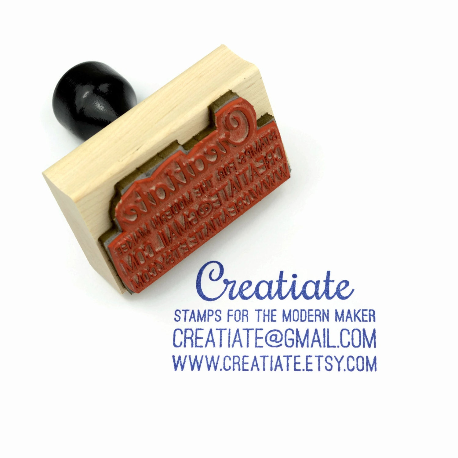 Custom Business Card Rubber Stamp | Customized Small Business ...
