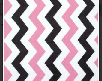 Pink Michael Miller Chevron Minky - By The Yard