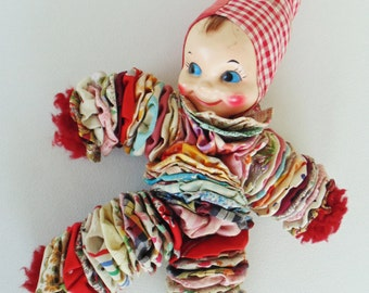 Hand Made Hand Sewn Doll Very Sweet