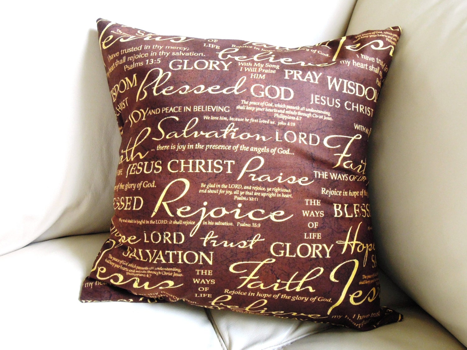 Decorative Pillows With Scripture : Religious Gifts Pillow Cover with Bible Verses Decorative