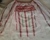 Vintage Romanian embroidered  costume blouse sequins beads folk