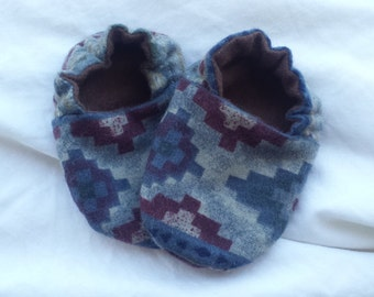 Baby Booties for a Boy or Girl - Camping / Southwest
