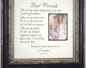 Best Friend Thank You Gift, Sister Personalized Frame Gift Best Friend Maid Of Honor Personalized Wedding Frame, SISTERS 16 X 16