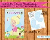 Pin the Wing on the Fairy Printable Birthday Game - Personalized