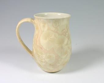 Champagne Cream Crystalline Glazed Mug
