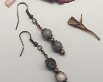 CA Dangle Earrings_Marble Pink