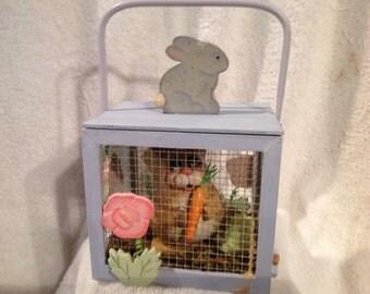 Bunny in Garden Basket