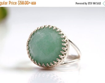 SUMMER SALE - Sky blue amazonite ring,silver ring,happiness ring,mineral ring,gemstone ring,statement ring,sterling silver jewelry
