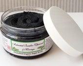 Activated Bamboo Charcoal & Moringa Emulsified Organic Sugar Scrub. Body and Face use. Organic, Fair Trade, Vegan, Gluten Free. 4 oz Jar