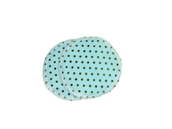 NURSING Breast Pad Set of 2 Reusable Cotton Organic Bamboo - READY To SHIP or Custom