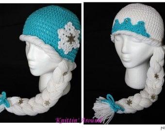 Crochet Elsa Hat - You choose Color/Style