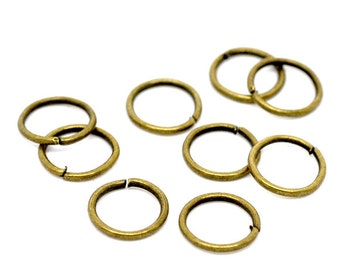 9mm Jump Rings : 100 Antique Bronze Open Jump Rings 9mm x 1mm (18 Gauge) | 9mm Brass Ox Jump Rings -- Lead, Nickel, & Cadmium free 9/1