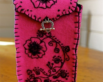 Handstitched ONE of a KIND Persian Rose TAROT Bag with Blessing