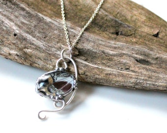 Sterling Silver Wrapped Real Butterfly Pendant, Natural History Jewelry