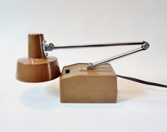 Vintage MODERN Desk Lamp Adjustable Brown
