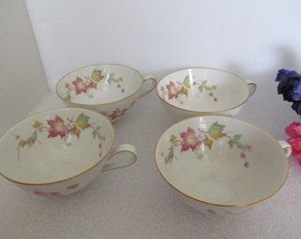 Vintage Favorit Bavaria Cups,  Maple Leaf, Hutschenreuther, Bavaria Germany