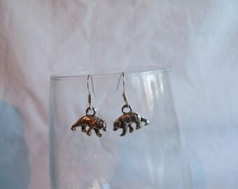 Silver Bear Earrings