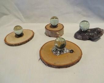 Variety of Miniature Crystal Balls
