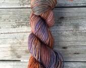 SW Merino, Yak, Silk, Hand Painted Yarn, Fingering Yarn, Hand Dyed Yarn