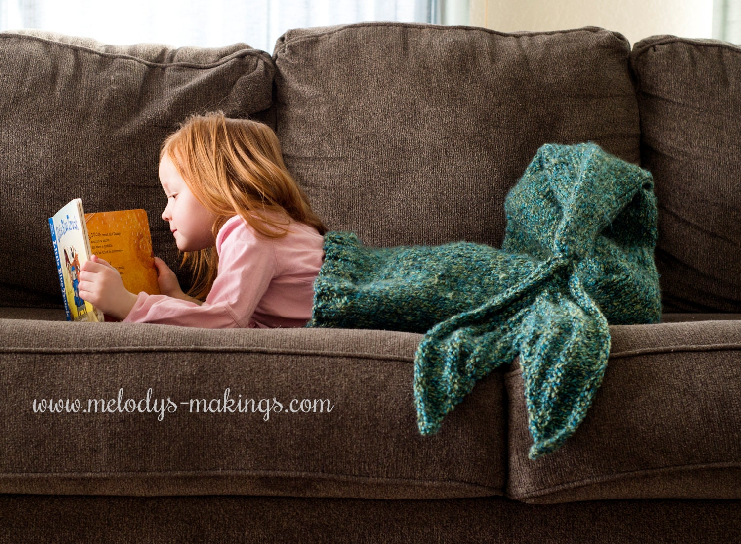 Knitting Pattern Mermaid Tail Blanket : Child Mermaid Tail Blanket Knitting Pattern Mermaid Tail