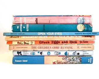 Vintage books, children's books childhood classics, young adults literature collection