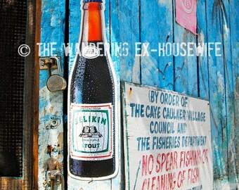 8x10/8x12 Photograph—'Belikin Beer' (Caye Caulker, Belize)
