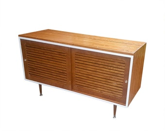 """Mid Century Media Console TV Stand 48"""" Vented"""