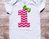 SALE READY to SHIP Slightly Flawed Pink and Green First Birthday Bodysuit | Size 12 Months | Perfect for Cake Smash Photos