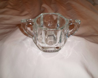 Vintage Sugar Bowl Heavy Duty Glass Restaurant Quality Glass/Victorian/Kitsch/Country/Restaurant/Shabby Chic