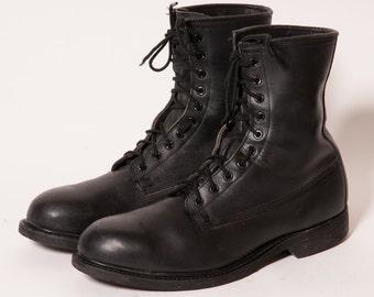 Men's Black Combat Boots Size 11 .5 R