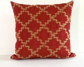 Lumbar Pillow Cover Red Pillow Cover Decorative Pillow Upholstery Fabric Throw Pillow Cover 20x20 18x18 16x16 12x24 12x21 12x18 12x16 10x20