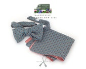 self tie, Men's bow tie and pocket square / beautiful cotton fabric / cotton freestyle - adjustable - just bowties for men from Bagzetoile