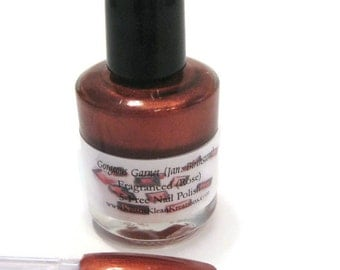 Gorgeous Garnet January Fragranced Nail Polish, Rose fragranced, Red colored nail color, ruby red