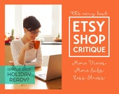 Etsy Shop Critique | Etsy Coaching | Shop Review | Personalized Shop Coaching Call | Etsy Seller Help | New Shop Set Up | Etsy SEO Help