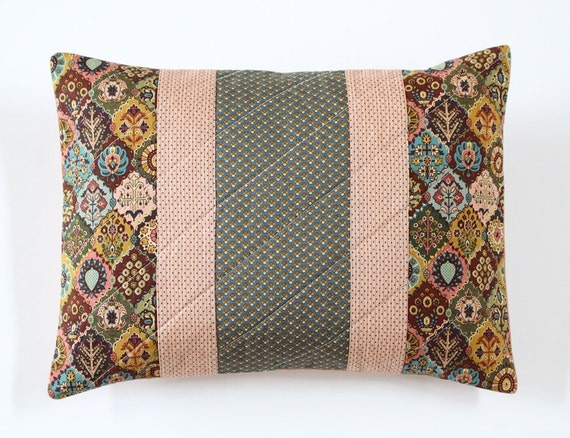 Romantic French Floral Medallion Quilted Pillow