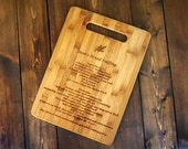 Cutting Board, Personalized Custom Engraved Bamboo Cutting Board, Favorite Recipe Cutting Board, Gift