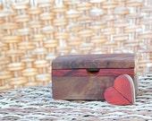 Set Love Note Box Walnut Burl Anniversary Gift With Twisting Heart
