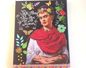 "Frida kahlo inspired wall art ""Flores Eternas"""