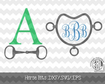 Horse Bits INSTANT DOWNLOAD in .dxf/.svg/.eps for use with programs such as Silhouette Studio and Cricut Design Space
