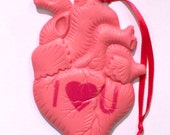Anatomical Valentine Heart Candy Magnetic Ornament