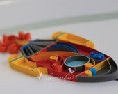 Reserved for Upasana Paper Quilling Rocket for kids room decor, Birthday Gift, Wall Art,Boy Room decor