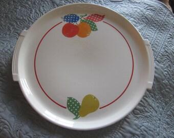 pottery guild platter,,country kitchen, vintage platter, serving platter