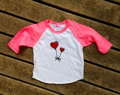 Valentine's Day Shirt, Baby Tee, Heart Tee, Gift for a Girl, 3-6, 6-12, 12-18, 18-24