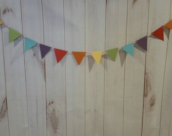 Rainbow garland Rainbow pennant garland, Rainbow bunting, Rainbow birthday party, Rainbow Birthday party decoration