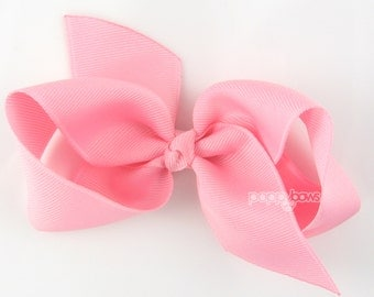 Girls Hair Bow - cotton candy pink hair bow - Loopy Bows - large hair bows - big hair bows - bows for girls - toddler clips - 3.5 inch bows