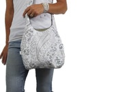 paisley hobo bag. cross body purse or shoulder bag. medium or large purse design your own. Fall fashion must have taupe purse.