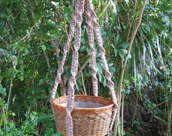 Pottery 39 1/2 Inch No Beads Macrame Plant Hanger