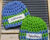 Baby Name Hat Beanie boy girl embroidered monogram personalized Newborn Toddler Crochet personalize Photo Prop Hat 0-3 3-6 6-12 child